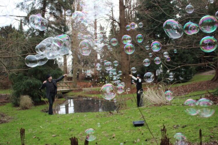 Seifenblasen- Weltentor